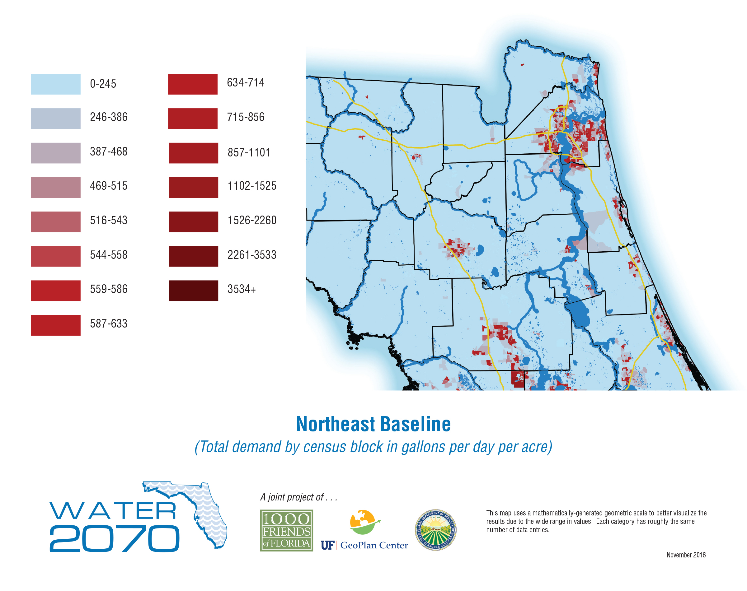 Map Northeast Florida.Download The 2070 Project